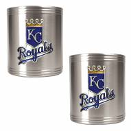 Kansas City Royals MLB Stainless Steel Can Holder 2-Piece Set