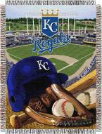 Kansas City Royals MLB Woven Tapestry Throw Blanket