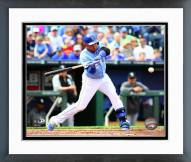 Kansas City Royals Omar Infante 2014 Action Framed Photo