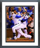 Kansas City Royals Omar Infante Home Run 2014 World Series Framed Photo
