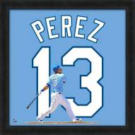 Kansas City Royals Salvador Perez MLB Uniframe Framed Jersey Photo
