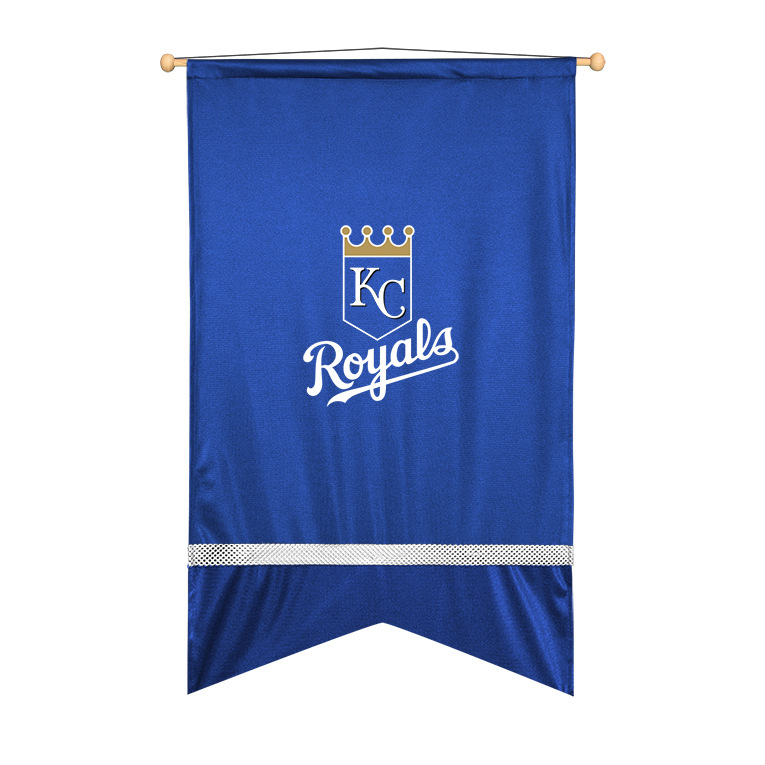 Kansas City Royals Sidelines Wall Flag