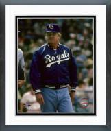 Kansas City Royals Whitey Herzog Action Framed Photo