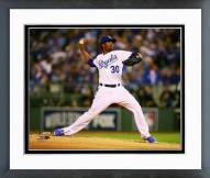 Kansas City Royals Yordano Ventura 2014 World Series Action Framed Photo
