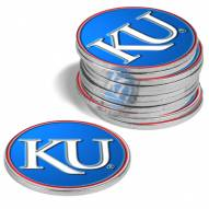 Kansas Jayhawks 12-Pack Golf Ball Markers