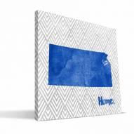 "Kansas Jayhawks 12"""" x 12"""" Home Canvas Print"