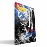"Kansas Jayhawks 16"""" x 24"""" Spirit Canvas Print"