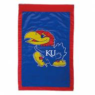 "Kansas Jayhawks 28"" x 44"" Double Sided Applique Flag"