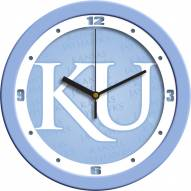 Kansas Jayhawks Baby Blue Wall Clock