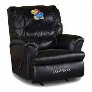 Kansas Jayhawks Big Daddy Leather Recliner