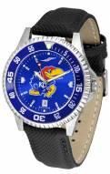 Kansas Jayhawks Competitor AnoChrome Men's Watch - Color Bezel