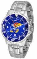 Kansas Jayhawks Competitor Steel AnoChrome Color Bezel Men's Watch