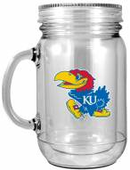 Kansas Jayhawks Double Walled Mason Jar