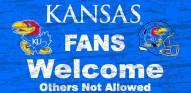 Kansas Jayhawks Fans Welcome Wood Sign