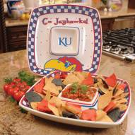Kansas Jayhawks Gameday Chip N Dip Dish