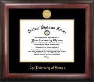 Kansas Jayhawks Gold Embossed Diploma Frame