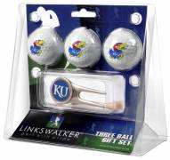 Kansas Jayhawks Golf Ball Gift Pack with Cap Tool