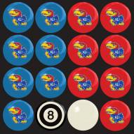 Kansas Jayhawks Home vs. Away Pool Ball Set