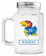 Kansas Jayhawks Mason Glass Jar