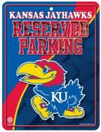 Kansas Jayhawks Metal Parking Sign