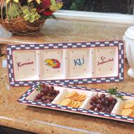 Kansas Jayhawks NCAA Ceramic Relish Tray