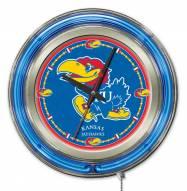 Kansas Jayhawks Neon Clock
