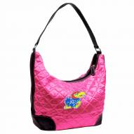 Kansas Jayhawks Pink NCAA Quilted Hobo Handbag