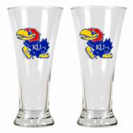 Kansas Jayhawks Premiere Pilsner Glass Set