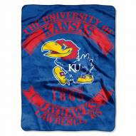 Kansas Jayhawks Rebel Raschel Throw Blanket