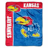 Kansas Jayhawks School Spirit Raschel Throw Blanket