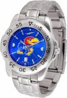 Kansas Jayhawks Sport Steel AnoChrome Men's Watch