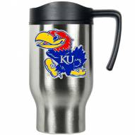 Kansas Jayhawks Stainless Steel Travel Mug