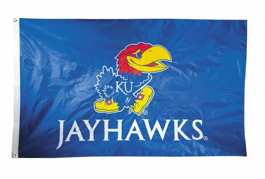 Kansas Jayhawks Two Sided 3' x 5' Flag