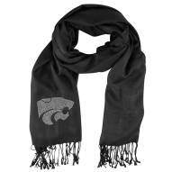 Kansas State Wildcats Black Pashi Fan Scarf
