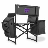 Kansas State Wildcats Gray/Black Fusion Folding Chair