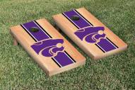 Kansas State Wildcats Hardcourt Stripe Cornhole Game Set
