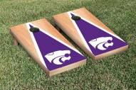 Kansas State Wildcats Hardcourt Triangle Cornhole Game Set
