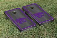 Kansas State Wildcats Onyx Stained Border Cornhole Game Set
