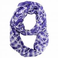 Kansas State Wildcats Plaid Sheer Infinity Scarf