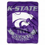 Kansas State Wildcats Rebel Raschel Throw Blanket
