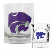 Kansas State Wildcats Rocks Glass & Shot Glass Set