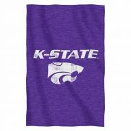 Kansas State Wildcats Script Sweatshirt Throw Blanket
