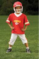 Kansas City Chiefs NFL Youth Helmet and Uniform Set by Franklin - Small