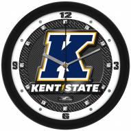 Kent State Golden Flashes Carbon Fiber Wall Clock