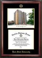 Kent State Golden Flashes Gold Embossed Diploma Frame with Lithograph