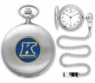 Kent State Golden Flashes Pocket Watch - Silver