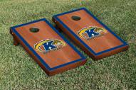 Kent State Golden Flashes Rosewood Stained Border Cornhole Game Set
