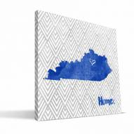 "Kentucky Wildcats 12"" x 12"" Home Canvas Print"