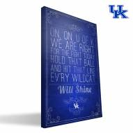 "Kentucky Wildcats 16"" x 24"" Song Canvas Print"