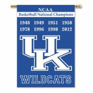 Kentucky Wildcats 2-Sided Championship Banner